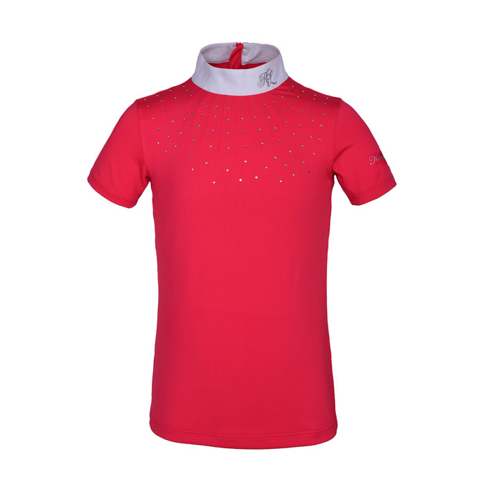 Kingsland Janessa Girls Show Shirt - Red Geranium