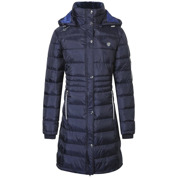 Covalliero Ladies Long Navy Coat