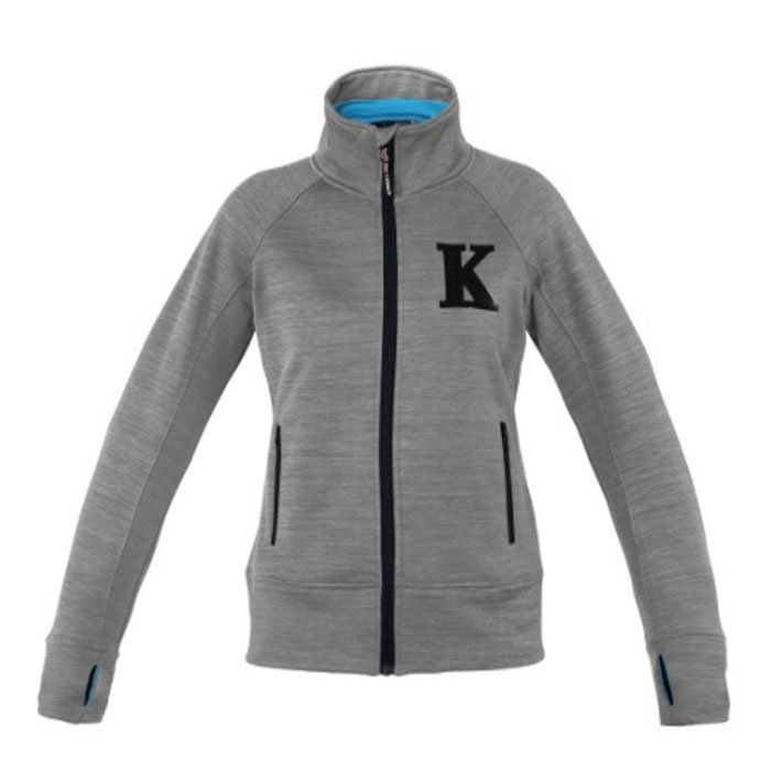Sella - Ladies Fleece Jacket - Grey with Blue Estate