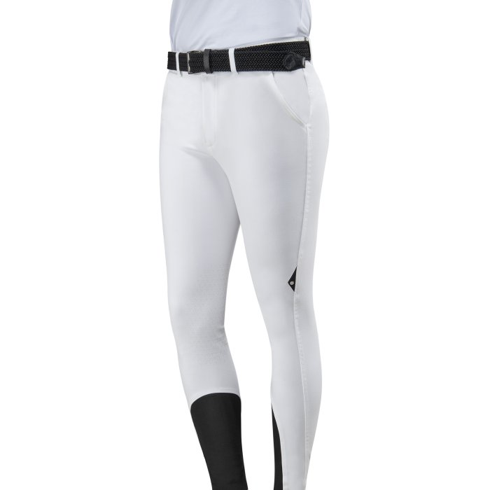 Equiline Mens Knee Grip Breeches - White