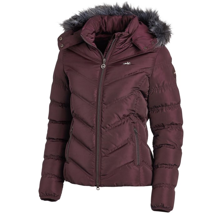 Schockemoehle - Ladies Fame Style Jacket with Fur - Burgundy